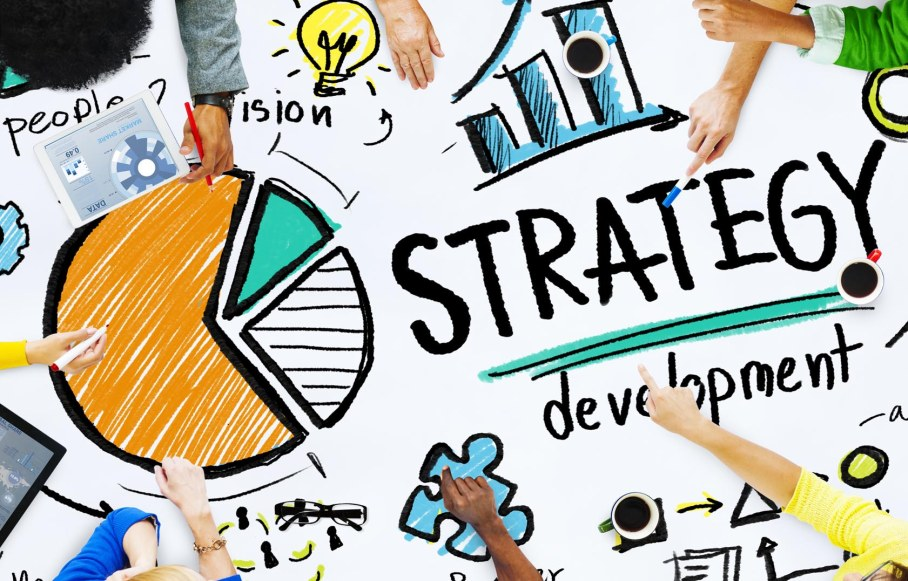 Strategy Development Goal Marketing Vision Planning Concept