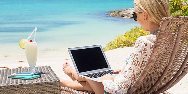 Trabajar desde la playa